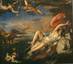 The Titian, The rape of Europa