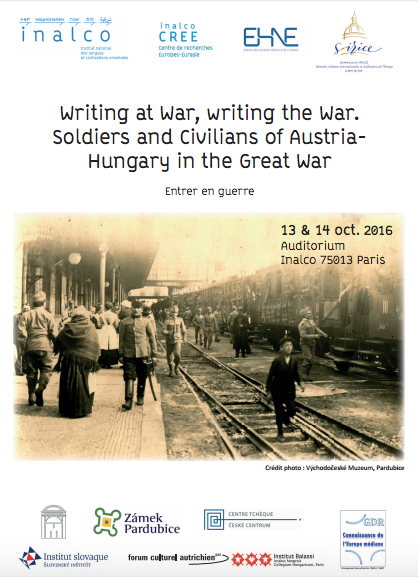 Colloque : Writing at War, writing the War. Soldiers and Civilians of Austria- Hungary in the Great War @ Inalco | Paris-13E-Arrondissement | Île-de-France | France