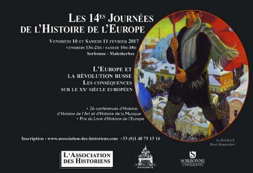 14èmes Journées de l'Histoire de l'Europe: L'Europe et la révolution russe @ Centre Malesherbes-Sorbonne | Paris | Île-de-France | France