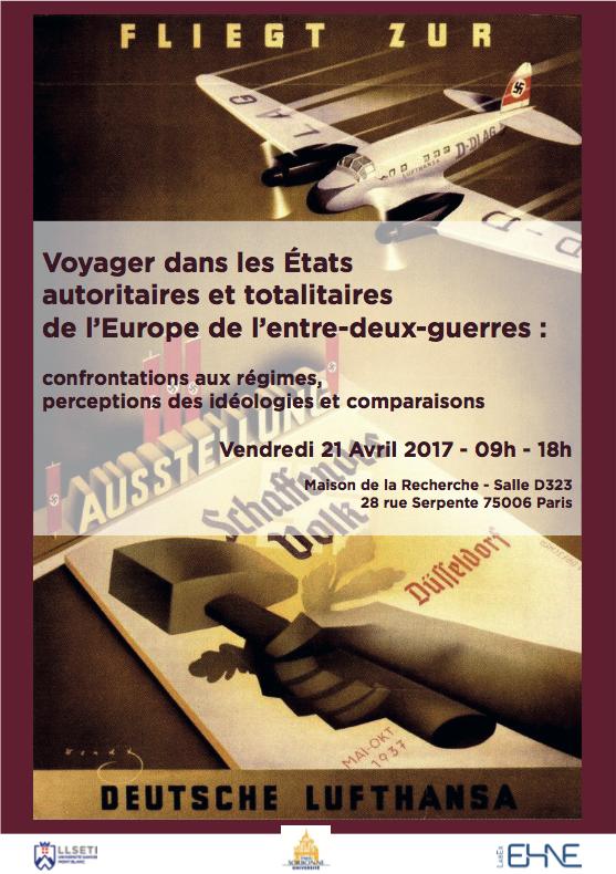 Colloque : Voyager dans les États autoritaires et totalitaires de l'Europe de l'entre-deux-guerres @ Maison de la recherche - Salle D323 | Paris-6E-Arrondissement | Île-de-France | France