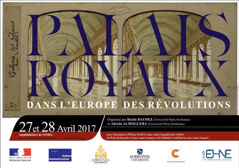 Colloque : Palais royaux dans l'Europe des révolutions @ INHA | Paris-2E-Arrondissement | Île-de-France | France