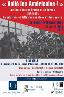 «Voilà les Américains !» Les Etats-Unis en France et en Europe, 1917-1920 : circulations et diffusion des idées et des savoirs @ Cinéville Saint-Nazaire | Saint-Nazaire | Pays de la Loire | France