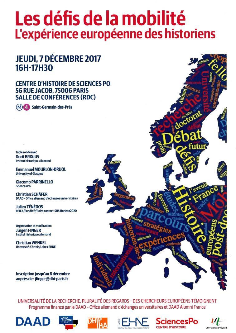 Les défis de la mobilité. L'expérience européenne des historien-ne-s @ Centre d'histoire de Sciences Po, Salle de conférences (rdc) | Paris | Île-de-France | France