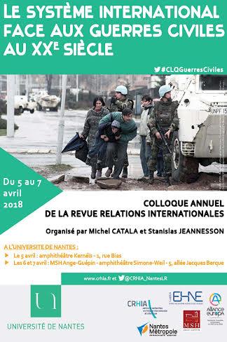 Le système international face aux guerres civiles au XXe siècle @ Université de Nantes | Nantes | Pays de la Loire | France
