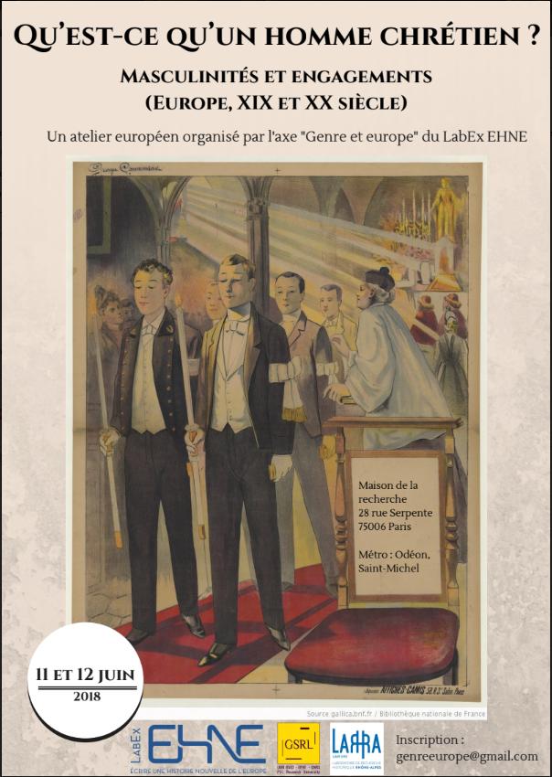 Qu'est-ce qu'un homme chrétien ? Masculinités et engagements @ Maison de la Recherche - Salle D 035 | Paris-6E-Arrondissement | Île-de-France | France
