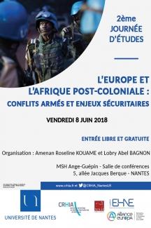 L'Europe et l'Afrique post-coloniale : conflits armés et enjeux sécuritaires @ Université de Nantes - MSH Ange-Guépin - Salle de conférences | Nantes | Pays de la Loire | France