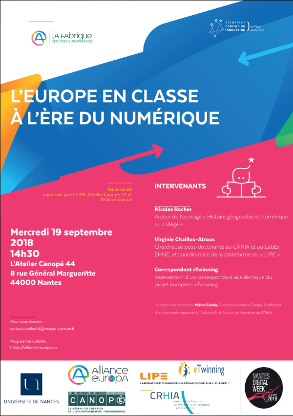 L'Europe en classe à l'ère du numérique @ L'atelier Caopée 44 | Nantes | Pays de la Loire | France