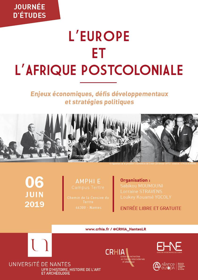 L'Europe et l'Afrique postcoloniale : enjeux économiques, défis développementaux et stratégies politiques @ Université de Nantes, Amphi E, Campus Tertre
